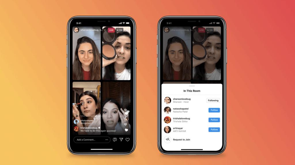 Así funcionan las salas en vivo de Instagram